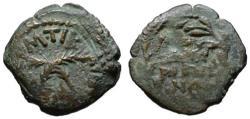 Ancient Coins - Antonius Felix AE Prutah - In the names of Claudius & Agrippina - VF+