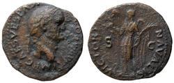 Ancient Coins - Vespasian AE As - VICTORIA NAVALIS - Rare left Victory