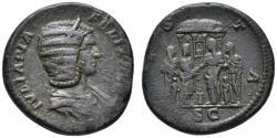 Ancient Coins - Julia Domna AE As - Temple of Vesta - Rare