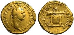 Domitian as Caesar AV Aureus - Jupiter's throne - Rare