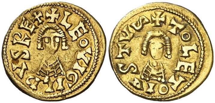 Ancient Coins - Leovigildus AV gold Tremissis - TOLETO IVSTVS - Antique gold forgery