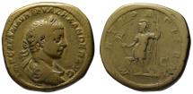 Ancient Coins - Alexander Severus AE sestertius - MARS - Rare Elagabalus features - Medallic flan 30.9g