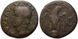 Ancient Coins - Divus AUGUSTUS dupondius AE - EAGLE on GLOBE - under Tiberius