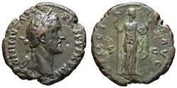 Ancient Coins - Antoninus Pius AE As - FELICITAS - Scarce Good VF