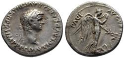 Ancient Coins - Claudius AR denarius - Winged Nemesis - Rare