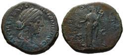 Ancient Coins - Lucilla AE sestertius - VESTA - Good portrait