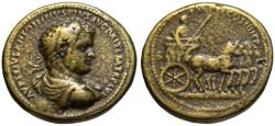 Ancient Coins - Paduan cast medal after Cavino - Caracalla AE medallion QUADRIGA