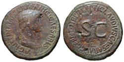 Ancient Coins - Agrippina AE sestertius - Large SC - Impressive 38mm flan