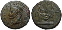 Ancient Coins - Divus Augustus AE sestertius - Altar CVTT - Extr. Rare Tarraco mint
