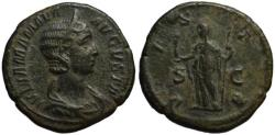 Ancient Coins - Julia Mamaea AE sestertius - VESTA - VF+