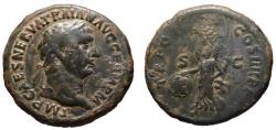 Ancient Coins - Trajan AE As or Dupondius - Victory holding SPQR shield - 12.75gm