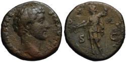 Ancient Coins - Marcus Aurelius AE As - VIRTUS - as Caesar 145 AD