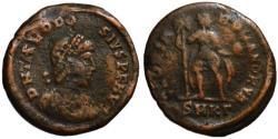 Ancient Coins - Theodosius AE maiorina - GLORIA ROMANORUM - aVF