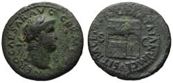Ancient Coins - Nero AE As - Temple of Janus - aVF  66 AD