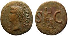 Ancient Coins - Divus Augustus Pater AE As - Impressive fine style LIVIA - under Tiberius