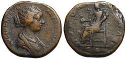 Ancient Coins - Lucilla AE sestertius - JUNO - VF