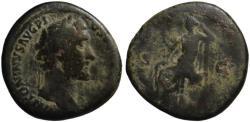 Ancient Coins - Antoninus Pius AE sestertius - OPS - (R) Rare