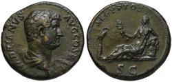 Ancient Coins - Hadrian AE sestertius - AEGYPTOS - aEF