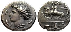 Ancient Coins - 19th C. BMC electrotype - Syracuse AR dekadrachm - Euainetos engraver