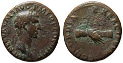 Ancient Coins - Nerva AE As - CONCORDIA EXERCITUUM - Very Rare engraver's error
