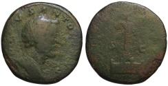 Ancient Coins - Divus Antoninus Pius AE sestertius - COLUMN - under Marcus Aurelius