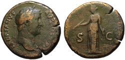 Ancient Coins - Hadrian AE sestertius - DIANA - 134-138 AD