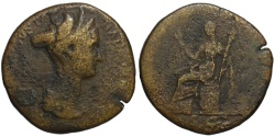 Ancient Coins - Sabina AE sestertius - CERES - Struck under Hadrian 128-134 AD