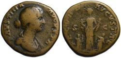 Ancient Coins - Faustina AE sestertius - FECUNDITAS with 4 children