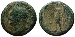 Ancient Coins - Titus AE As - GENIUS of The Romans - Scare 80 AD