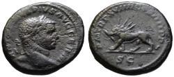 Ancient Coins - Caracalla AE As - Radiate Lion - Rare