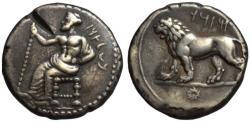 Ancient Coins - 19th C. BMC electrotype - Mazaeus AR double shekel - Baal & Lion