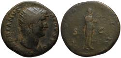 Ancient Coins - Hadrian AE dupondius - FIDES - 125-128 AD