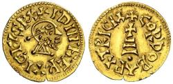 Ancient Coins - Ervigius AV gold Tremissis - CORDOBA PATRICIA - Antique gold forgery