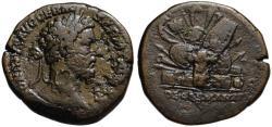 Ancient Coins - Marcus Aurelius AE sestertius - DE GERMANIS - Very Scarce