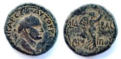 Ancient Coins - Judaea,Agrippa II under Titus. AE.13.6 g-25,3mm