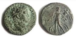 Ancient Coins - JUDAEA, Judaea Capta. Domitian. AD 81-96. Æ .Caesarea Maritima mint.