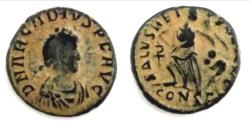Ancient Coins - Arcadius AE Constantinople. AD 383-408.  1.2 g - 12.6 mm