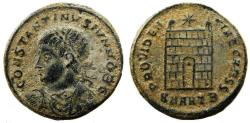 Ancient Coins - Roman Imperial, Constantine II (330-334 AD) AE Follis, Antioch mint, Campgate