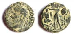 Ancient Coins - JUDAEA, Judaea Capta. Domitian. AD 81-96. Æ (22.4mm,11.3 g ). Caesarea Maritima mint.
