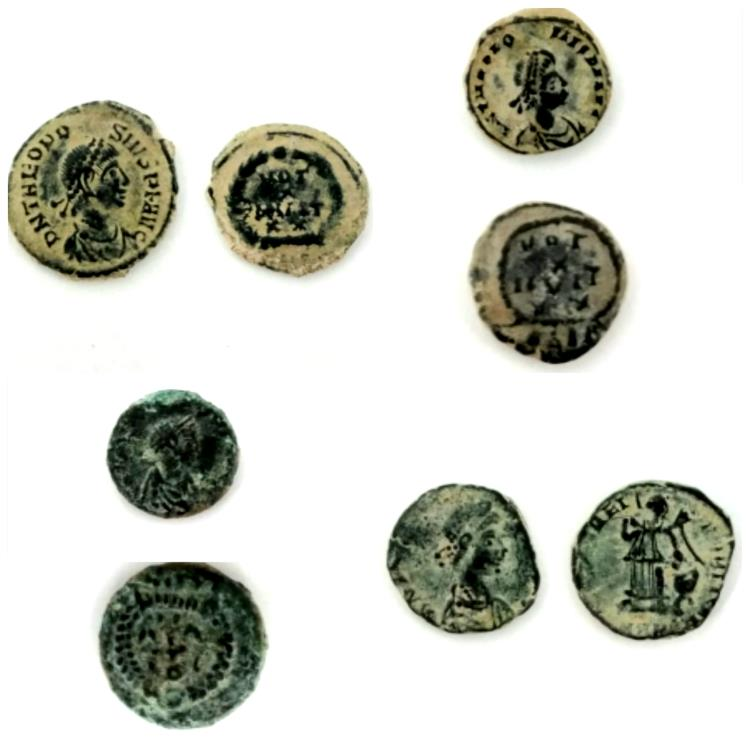 Ancient Coins - LOT OF  4 ANCIENT BRONZE ROMAN COINS