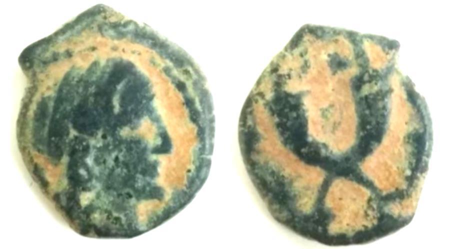 Ancient Coins - Nabataean Kingdom,Aretas IV AE,  Petra, 9 B.C.E. - 40 A.D