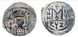 Ancient Coins - BYZANTINE EMPIRE.Heraclius AD 610-641.AE.Follis.CYZICUS
