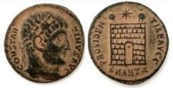 Ancient Coins - Constantine I, AE Follis of Antioch. AD 331-334.