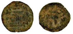 Ancient Coins - Judaea. First Jewish War, Year 2. AE Prutah.