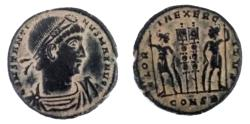 """Ancient Coins - Constantine I The Great """"GLORIA EXERCITVS Soldiers"""" Constantinople"""