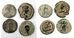 Ancient Coins - LOT OF 4 ANCIENT BRONZE ROMAN COINS