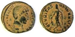 Ancient Coins - Helena. Augusta, 324-329 AD. AE Follis.