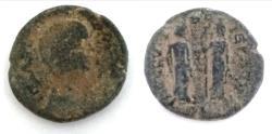 Ancient Coins - JUDAEA, Aelia Capitolina (Jerusalem). Antoninus Pius. AD 138-161. Æ (23mm, 9.5 g)
