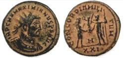 Ancient Coins - MAXIMIANUS HERCULIUS Æ ANTONINIANUS, ANTIOCH 286-305 AD