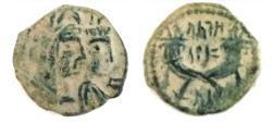 Ancient Coins - Nabataean Kingdom, Aretas IV, 9 B.C. - 40 A.D.Petra mint,